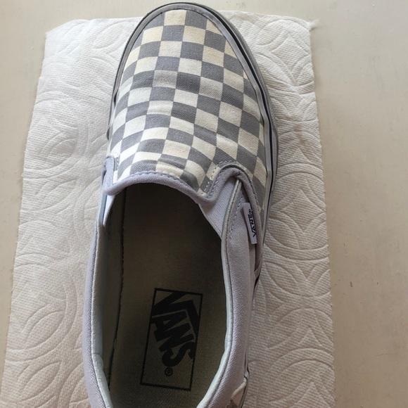209da160ab5c Vans Shoes | Grey Checkerboard | Poshmark